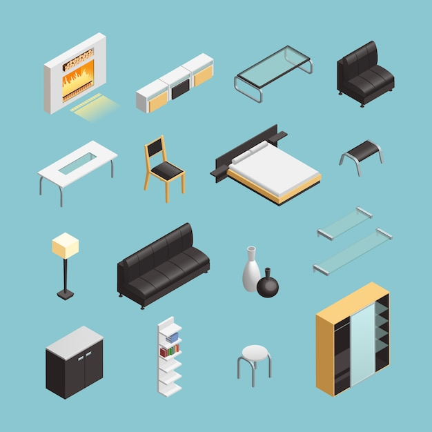 Home interior objects Free Vector