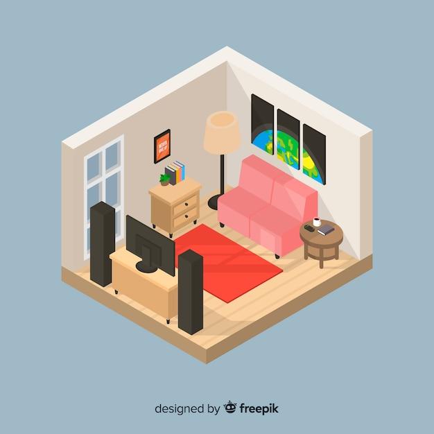 Home interior Free Vector