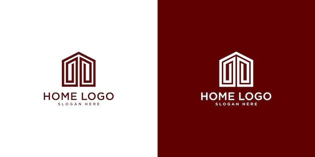 Шаблон дизайна домашнего логотипа Premium векторы