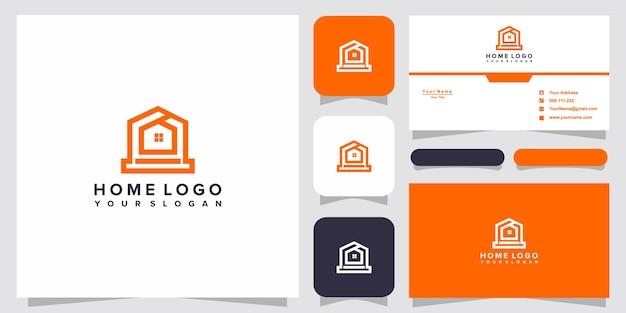 Шаблоны логотипов для дома и дизайн визиток premium векторы Premium векторы