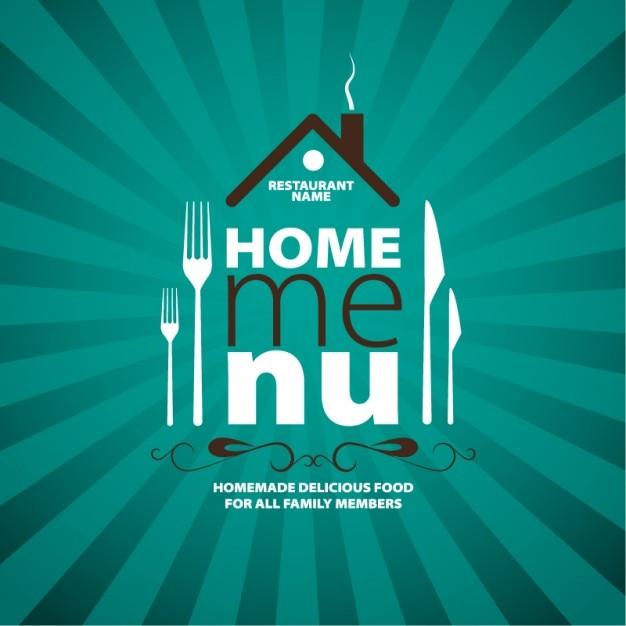 home menu design vector free download