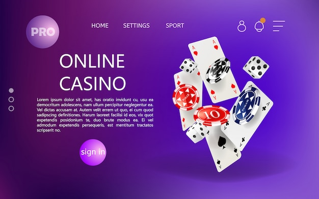 Premium Vector Home Page For Online Casino Website