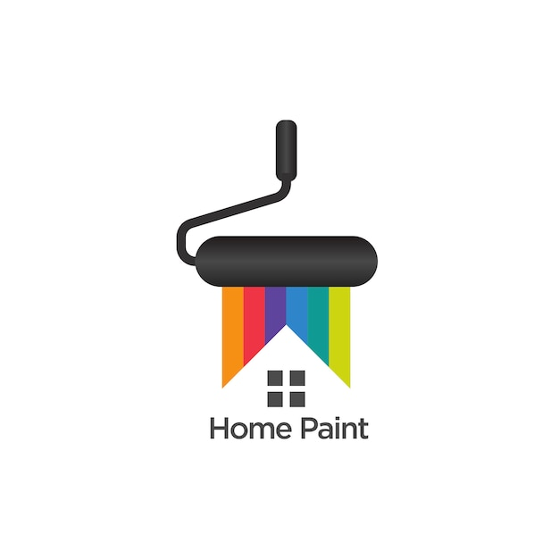 Home painting logo template design vector Premium Vector