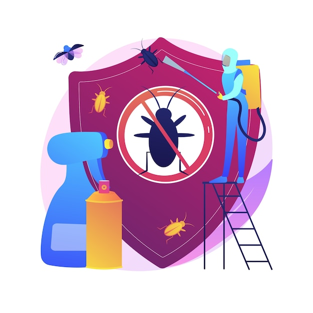 Home pest insects control abstract concept   illustration. pest insects control, vermin exterminator service, insect thrips equipment, diy solution, home garden protection Free Vector