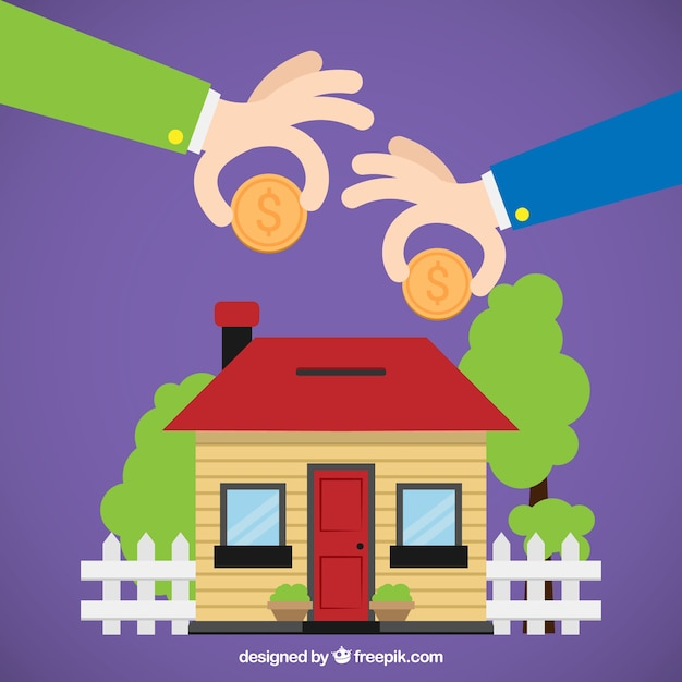 Home piggybank Free Vector