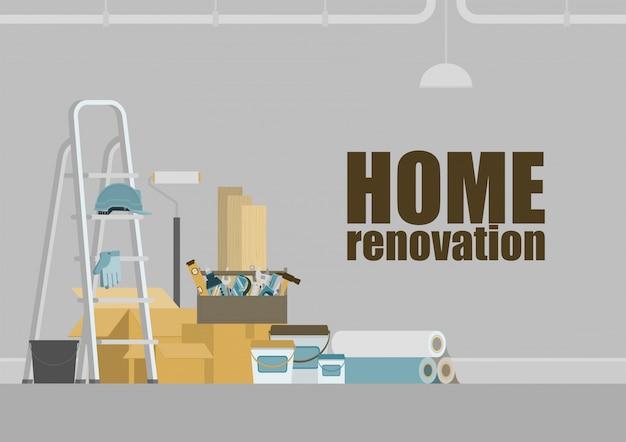 Home renovation background Premium Vector