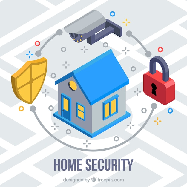 Home security background Free Vector