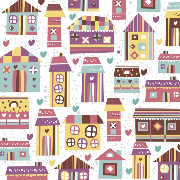 Home sweet home pattern vector free download for House pattern