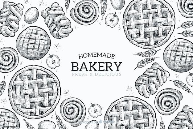 Homemade bakery background Free Vector