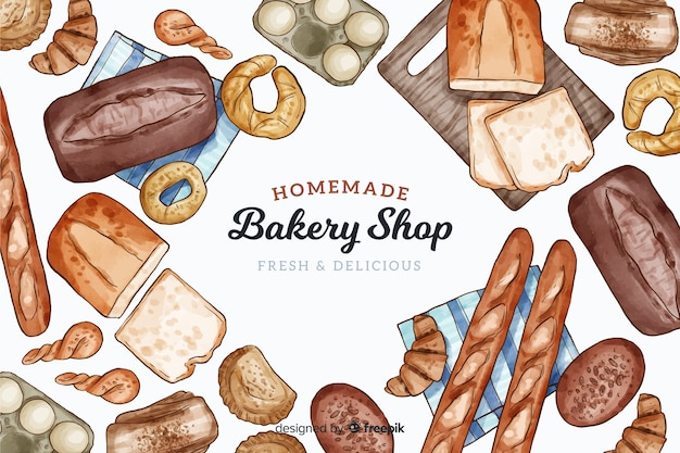 Homemade bakery background Free Vector