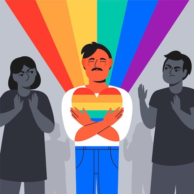 Homophobia concept Free Vector