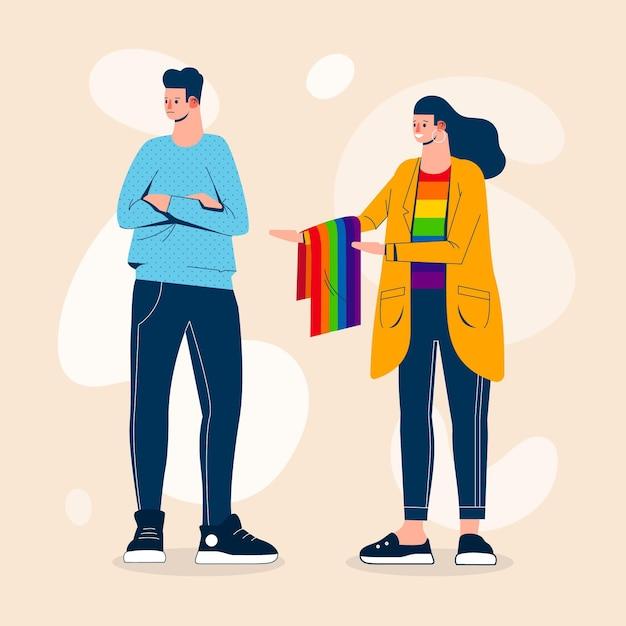 Concetto di illustrazione di omofobia Vettore gratuito
