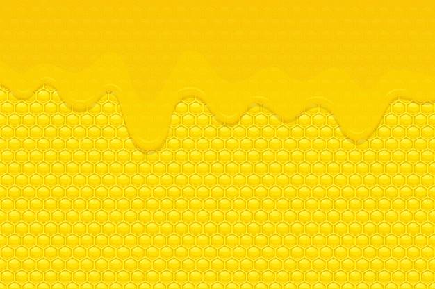 Мед фоновой иллюстрации Premium векторы