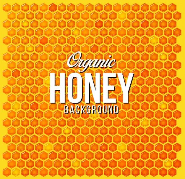 蜂蜜の櫛の背景パターン Premiumベクター