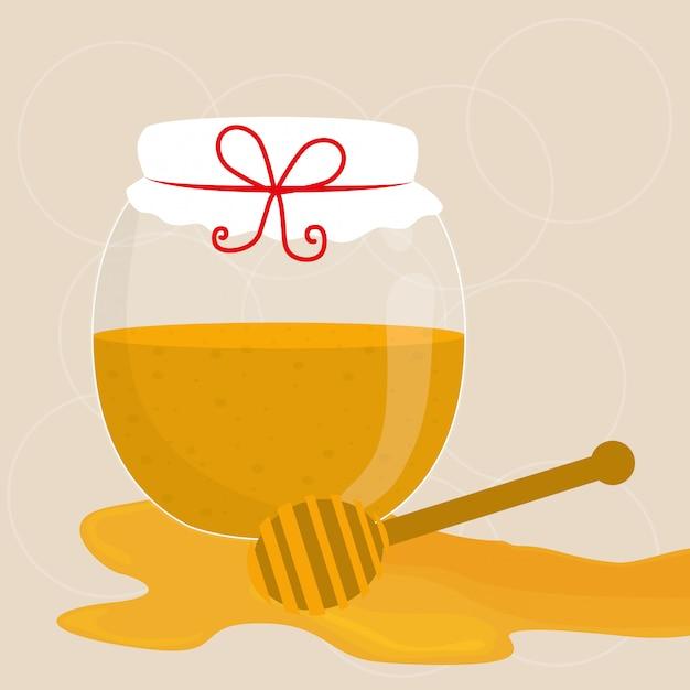 Honey design. Premium Vector