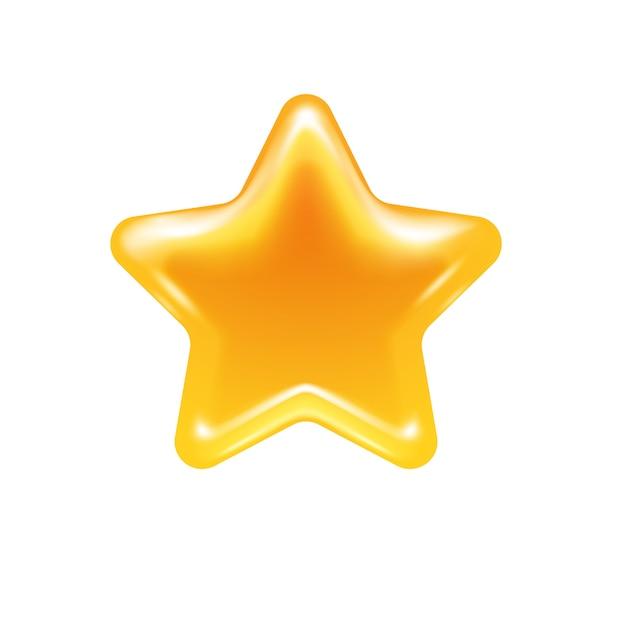 Honey star jelly candy icon. Premium Vector