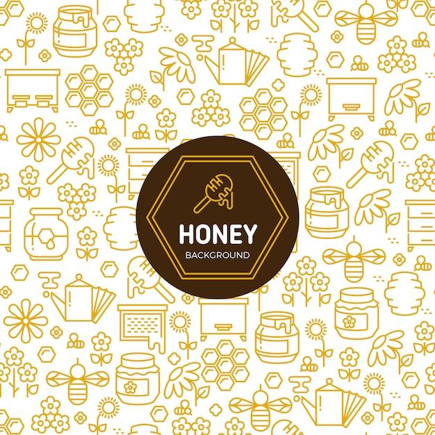 Honey wrapping vector background Premium Vector