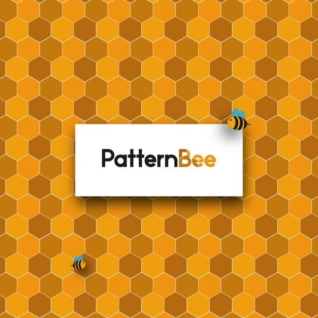 Honeycomb backgorund design Free Vector
