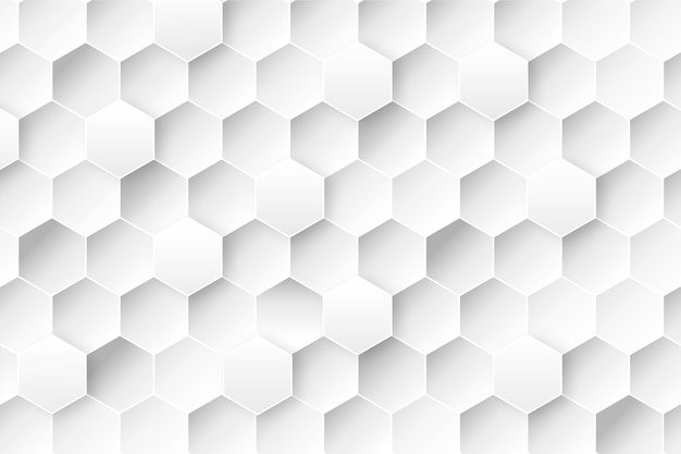 Honeycomb background in 3d paper style Free Vector