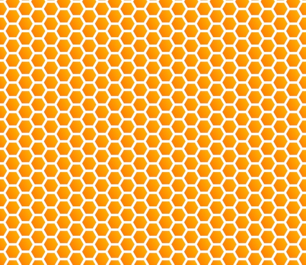 Honeycomb  honey seamless pattern Premium Vector