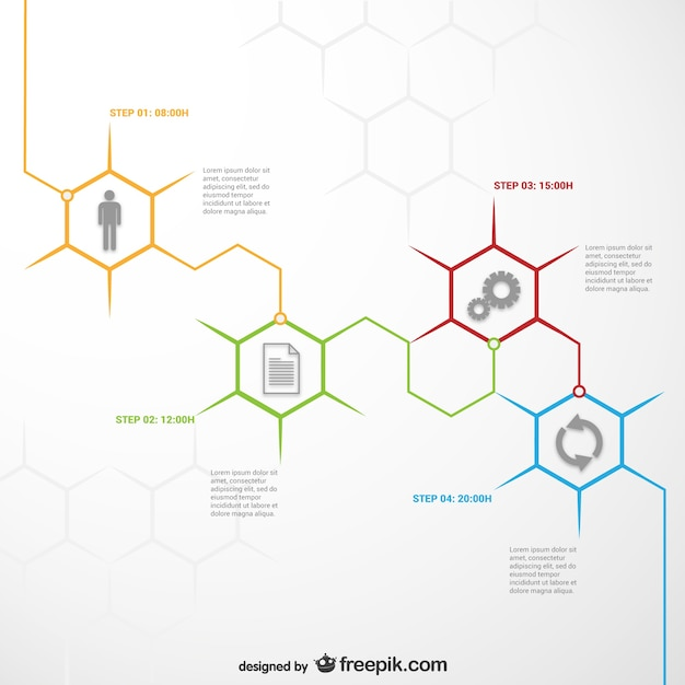 Honeycomb infographic template Vector | Free Download