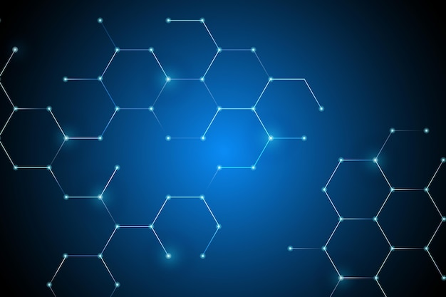 Сотовая сеть подключения цифровой фон Бесплатные векторы