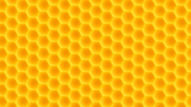 Honeycomb wide back Premium Vector
