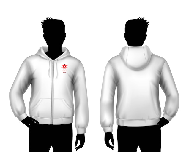 Hooded sweatshirt template Free Vector
