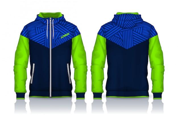 Hoodie shirts template Premium Vector