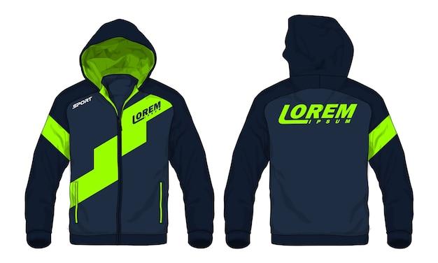 Векторные иллюстрации спортивной куртки hoodie. Premium векторы
