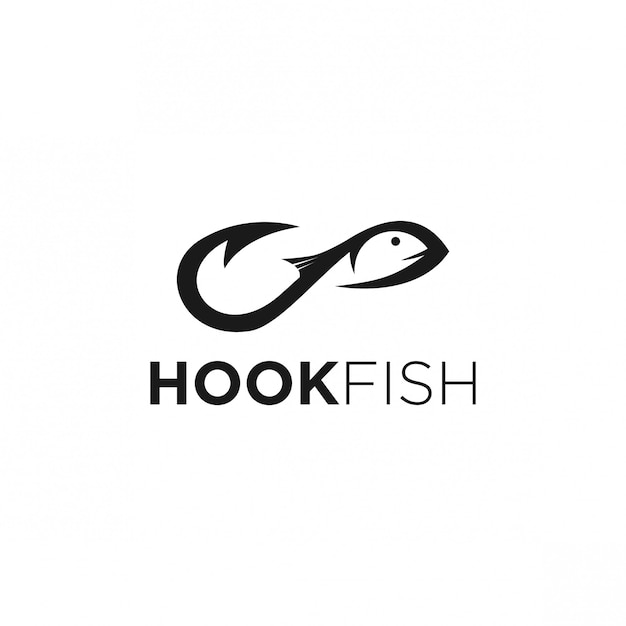 Hook logo design Premium Vector