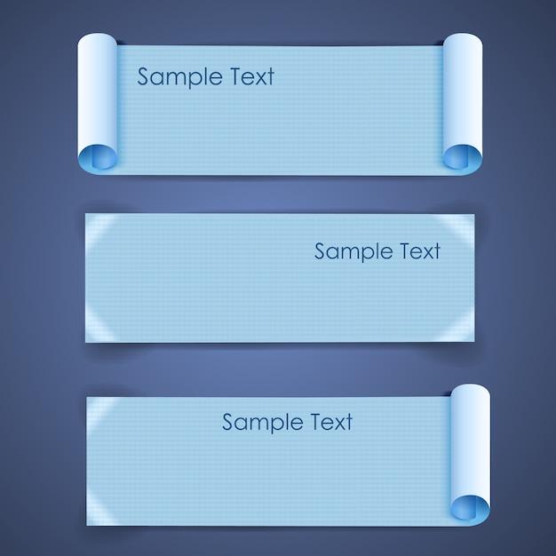 紙のバナーセットの水平建築空白の正方形のシート 無料ベクター
