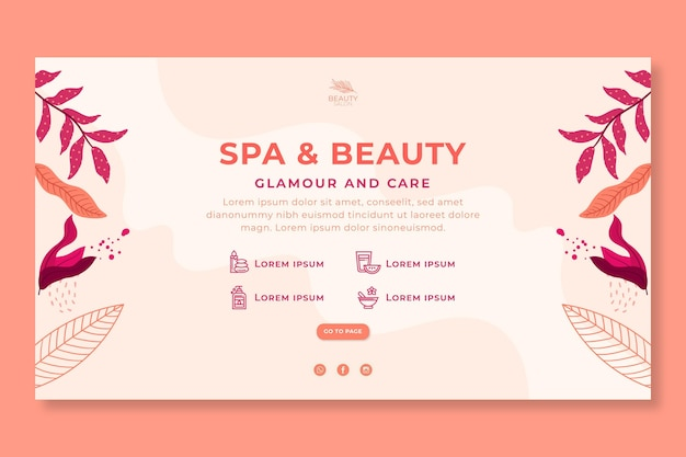 Horizontal banner for beauty salon Free Vector