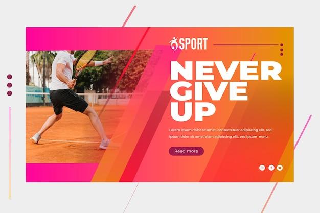 Banner orizzontale per attività sportiva Vettore gratuito