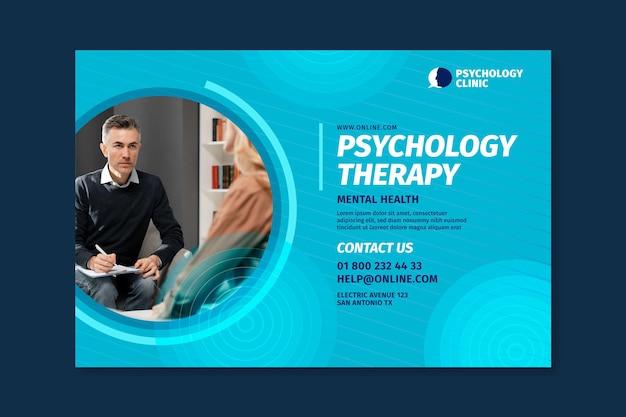 Modello di banner orizzontale per terapia psicologica Vettore gratuito