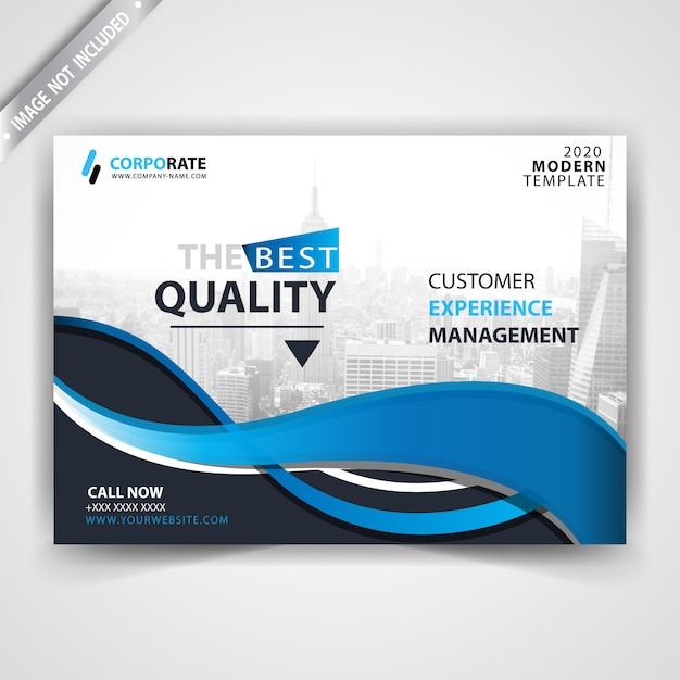 Horizontal booklet commercial flyer Free Vector