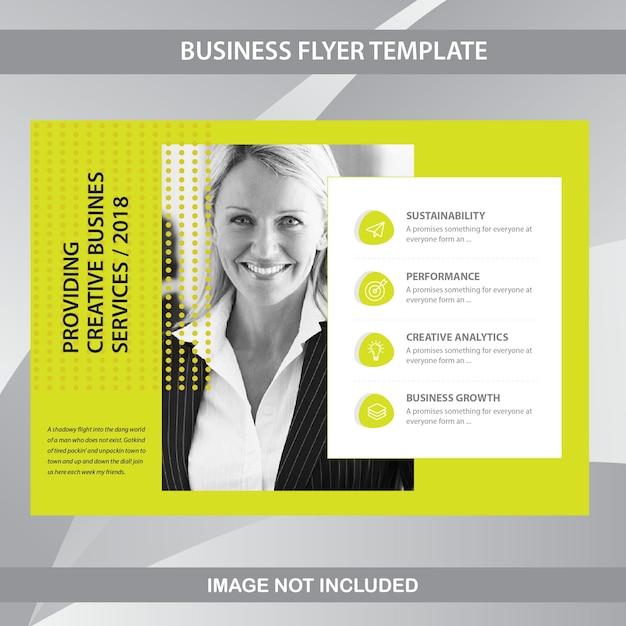Horizontal business brochure template Premium Vector