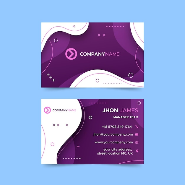 Horizontal business card template for business services Premium Vector
