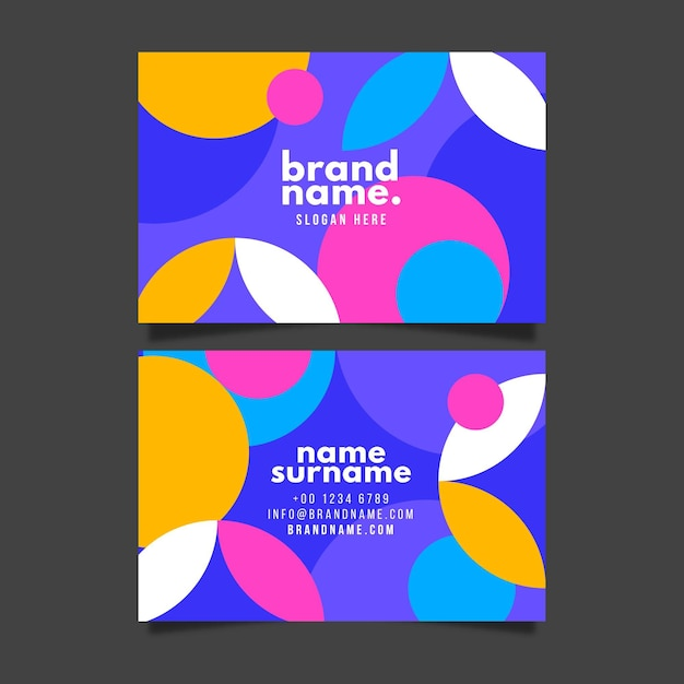 Horizontal business card template Free Vector