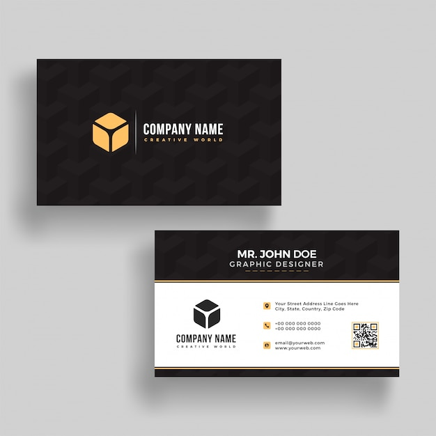 Horizontal business card with front and back presentation vector horizontal business card with front and back presentation premium vector colourmoves