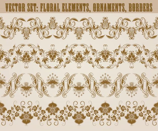 Horizontal elements decoration vector Premium Vector