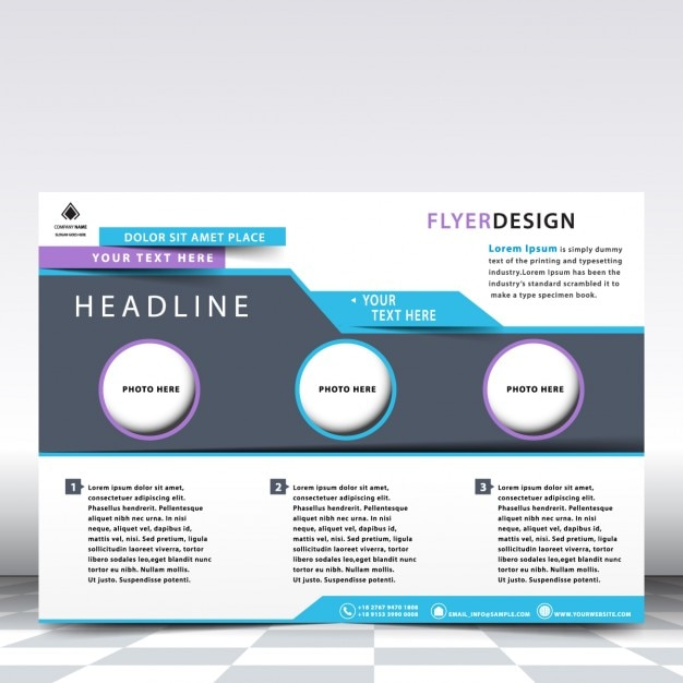 Horizontal Flyer Template Vector Free Download
