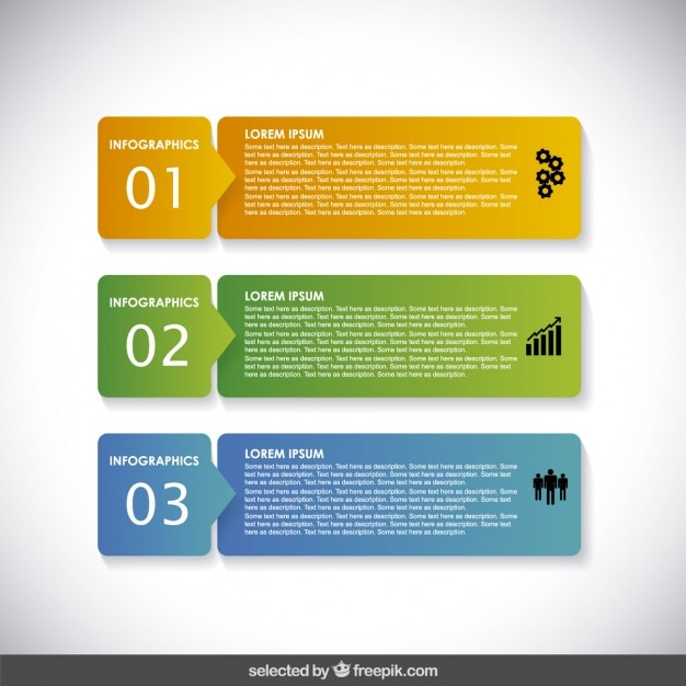 Horizontal infographic banners Vector | Free Download