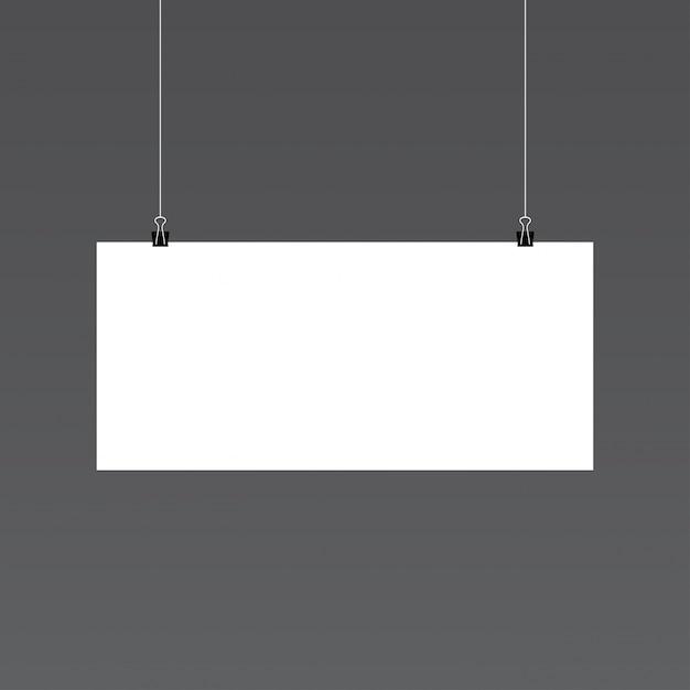 Horizontal paper mockup Free Vector
