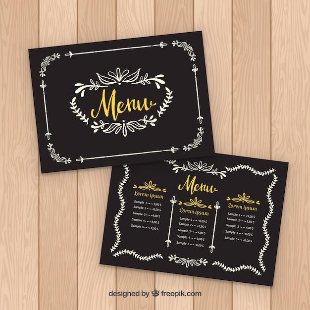 restaurant menu samples