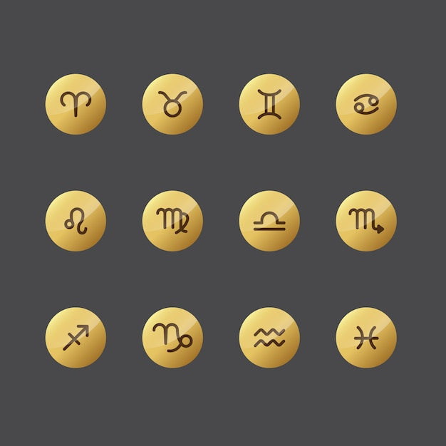 Horoscope icon collection Free Vector