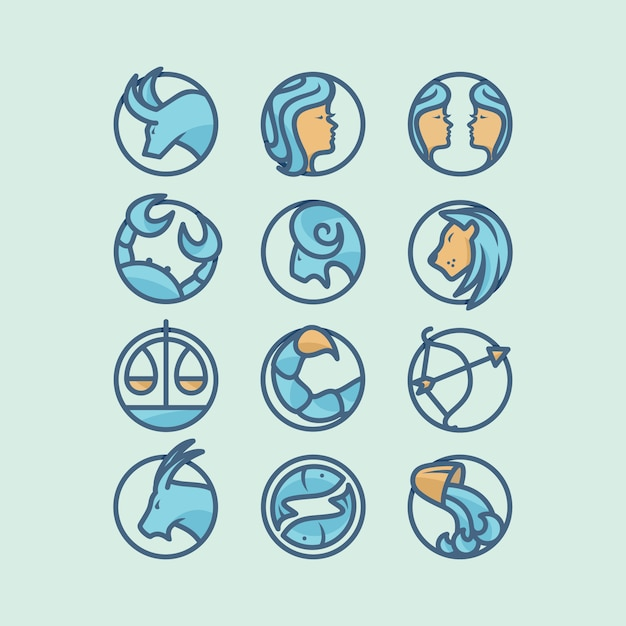 horoscope icon design vector free download