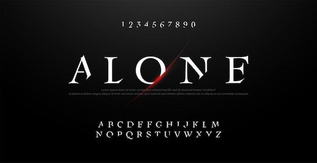 Horror, scary movie alphabet typography font set. Premium Vector