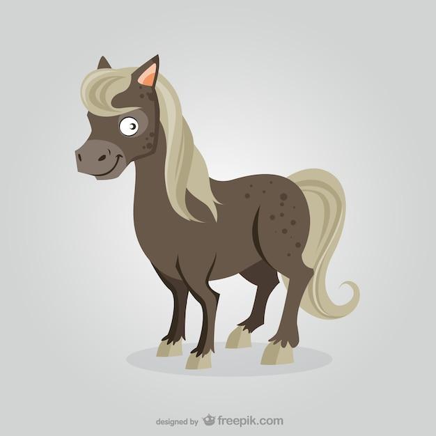 Horse cartoon Free Vector