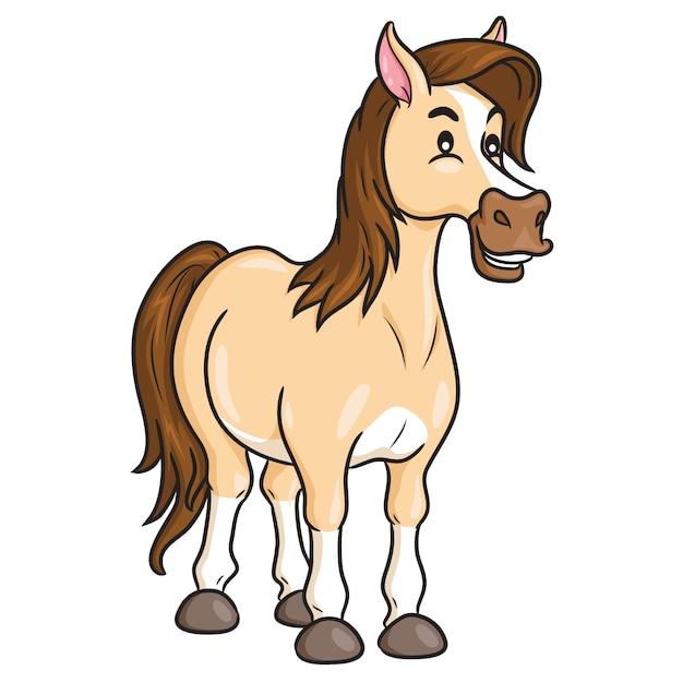 Horse cute cartoon Vector | Premium Download
